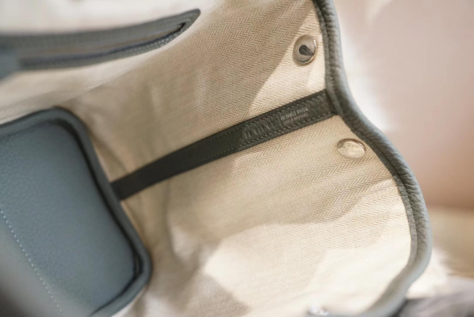 Hermes Garden Party C63杏仁绿 花园包30 原厂Negonda皮 容量超棒的一款实用型美包