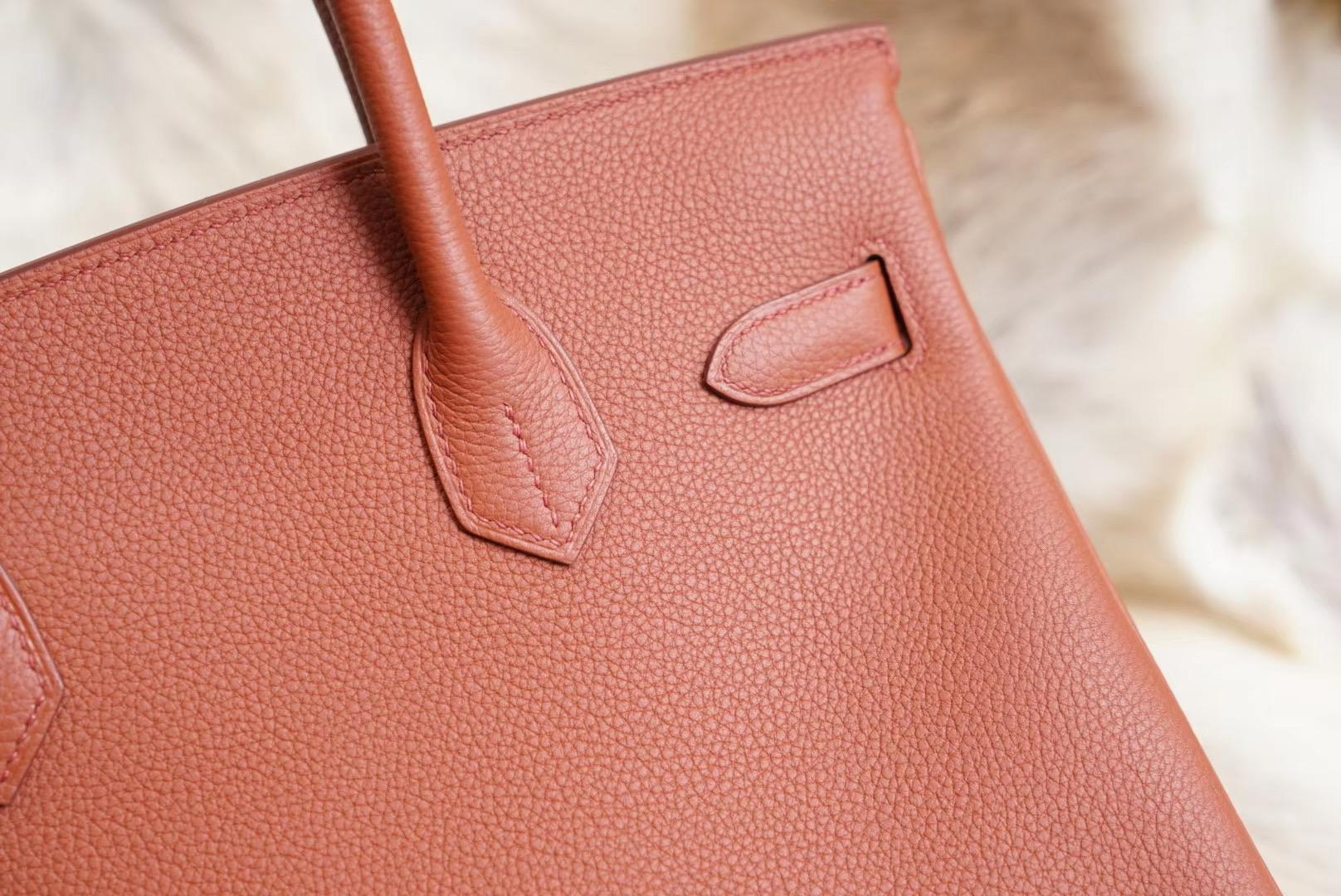 Birkin 古铜色 BK30 原厂Togo皮 法国蜡线 全手缝