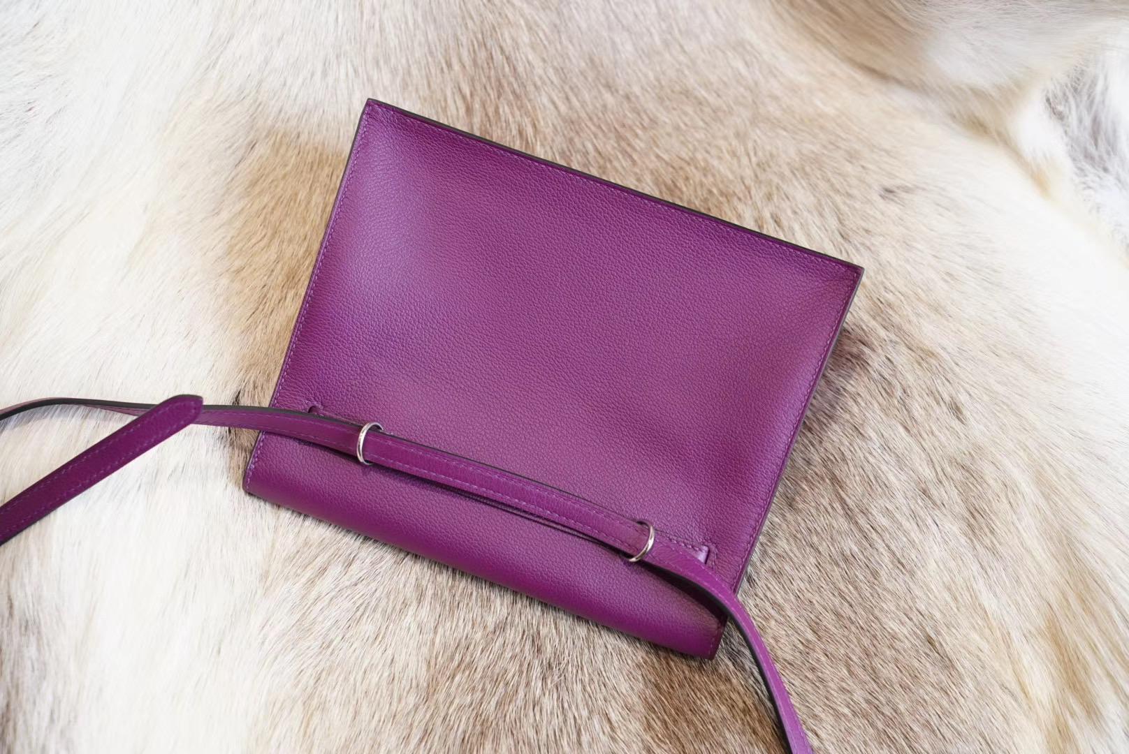 最新真品开版 Kelly danse ll  P9海葵紫 独家原厂evercolor皮 法国蜡线 全手缝