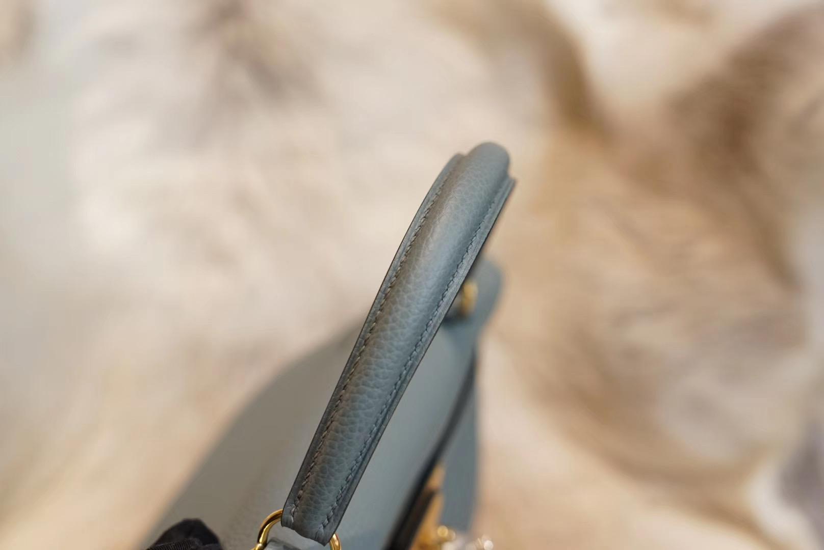 Hermes Kelly C63杏仁绿 KL28 原厂Togo皮 法国蜡线 全手缝