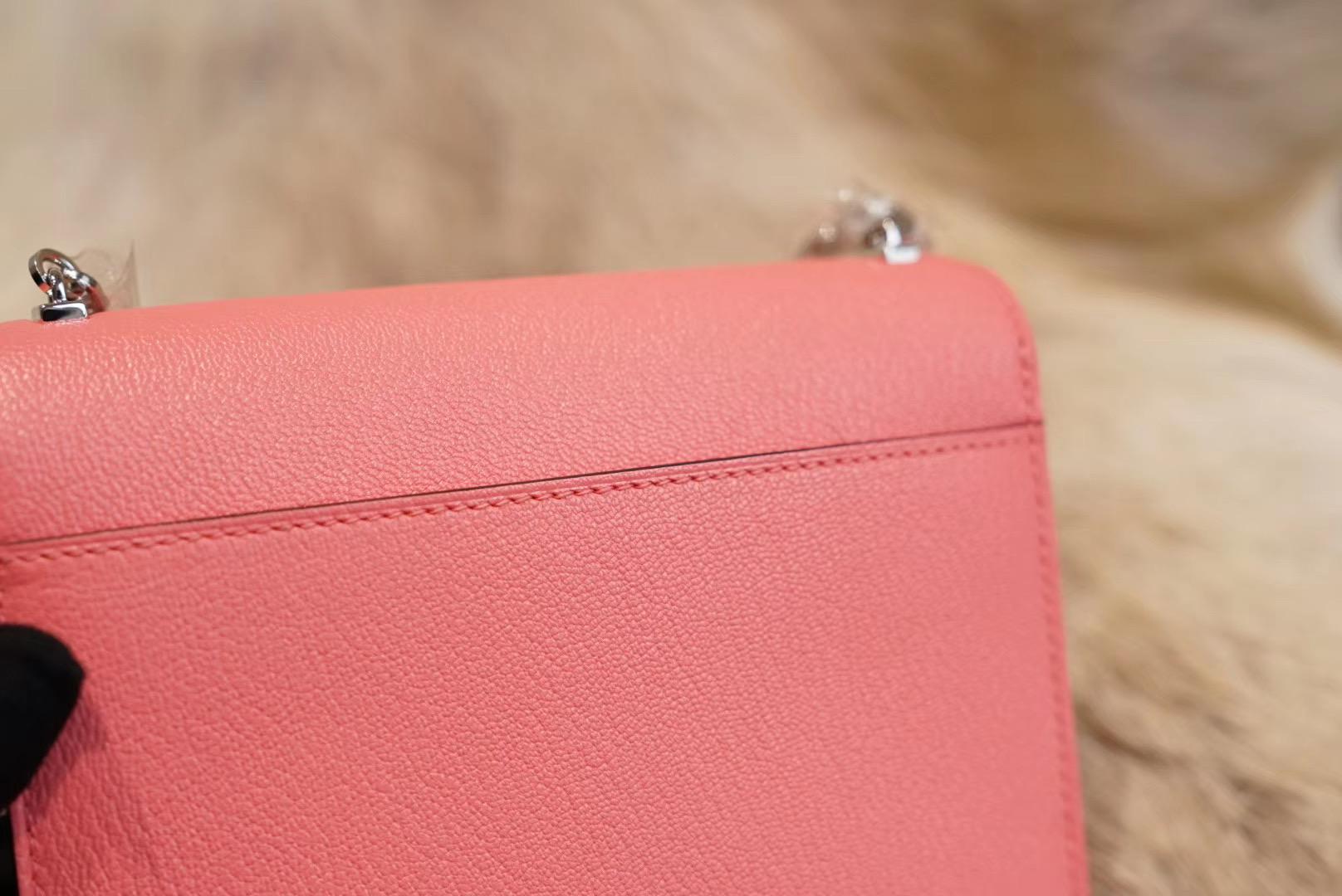 Roulis K4夏日玫瑰粉 Verrou Mini 原厂山羊皮 法国蜡线 全手缝