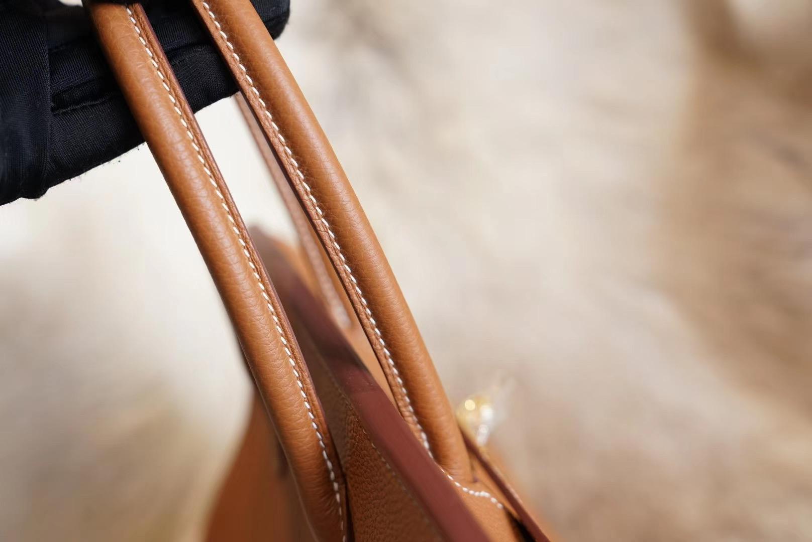 Birkin CK37金棕 BK30 百分百专柜Togo皮 法国蜡线 全手缝
