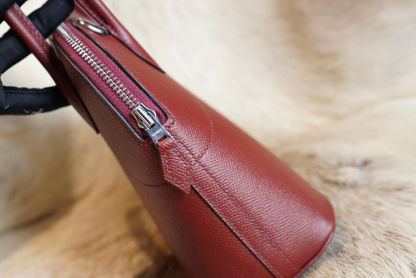 Hermes Bolide 27CM C55 爱马仕红 保龄球27 原厂 Epsom皮 法国蜡线 全手缝