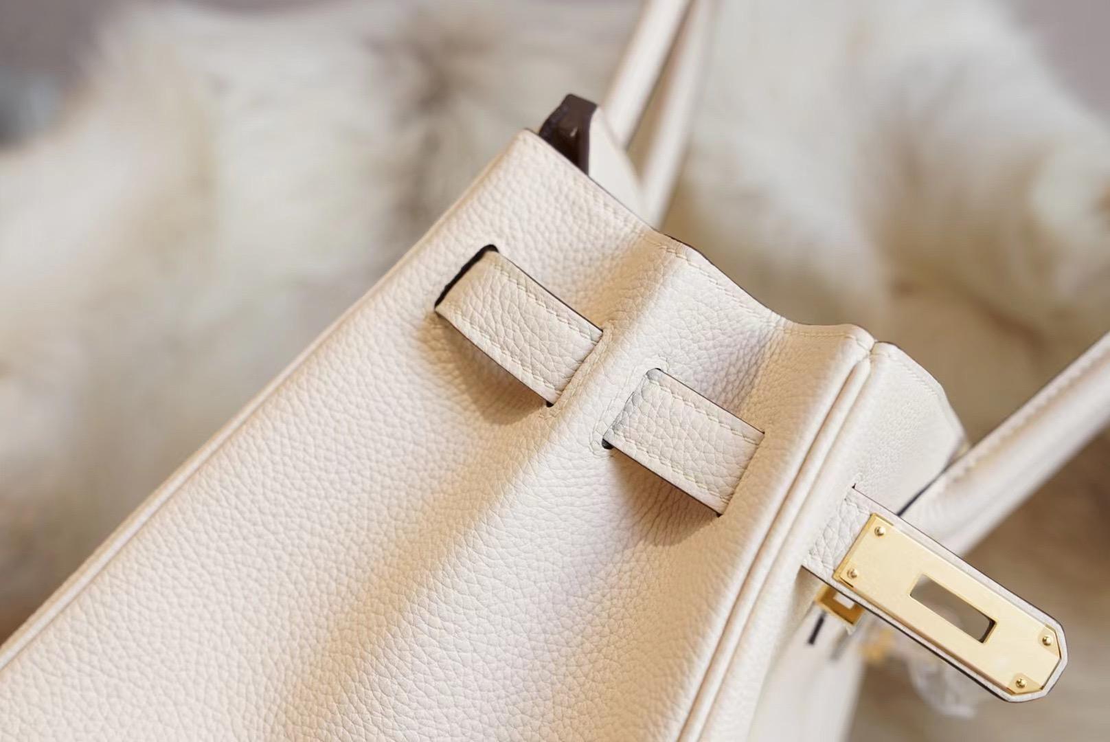 Hermes Birkin Nata 奶油白 BK30 原厂 Togo皮 法国蜡线 全手缝