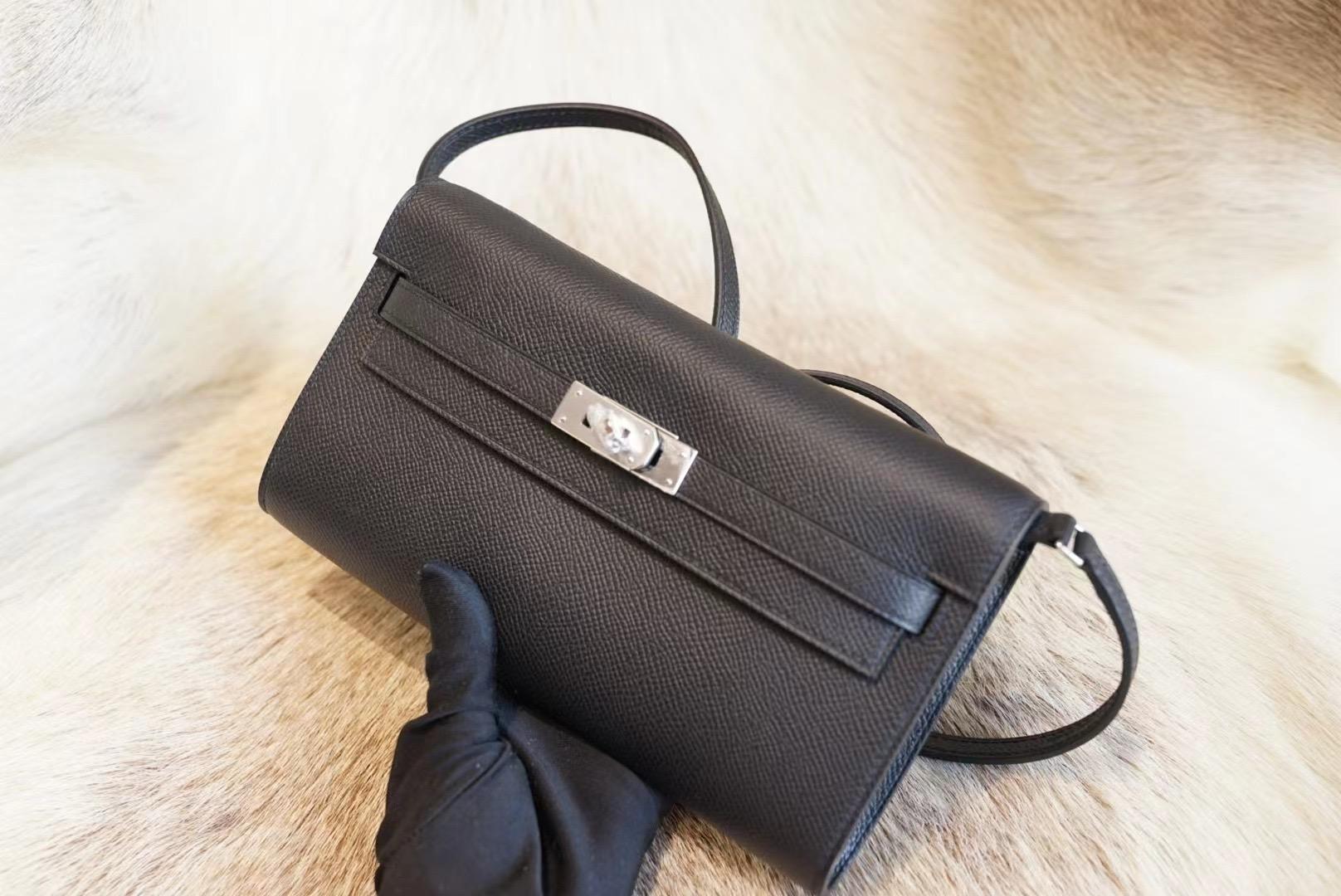 Hermes Kelly To Go Ck89黑色 原厂Epsom皮 法国蜡线 全手缝