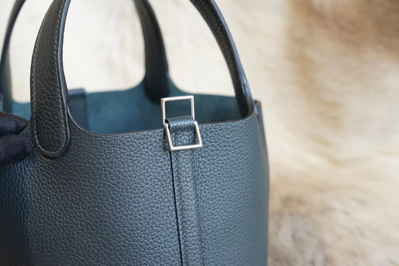 Hermes Picotin 18CM 6O松柏绿 菜篮子18 原厂Clemence皮 法国蜡线 全手缝